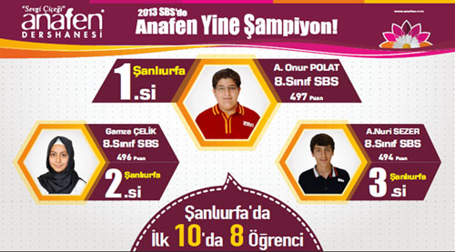 SBS Şanlıurfa şampiyonları Anafen'den
