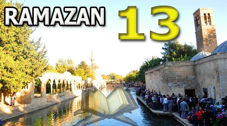 Ramazan sayfası, Kur'anı Kerim 13.Cüz