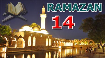 Ramazan sayfası, Kur'anı Kerim 14.Cüz