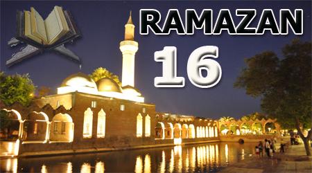 Ramazan sayfası, Kur'anı Kerim 16.Cüz