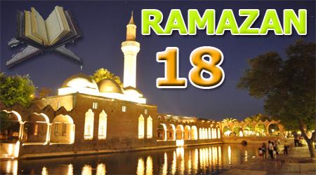 Ramazan sayfası, Kur'anı Kerim 18.Cüz