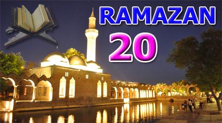 Ramazan sayfası, Kur'anı Kerim 20. Cüz