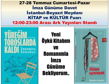 Efiloğlu Türkiye Kitap Fuarı'nda kitaplarını imzalıyor