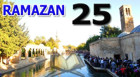 Ramazan sayfası, Kur'anı Kerim Cüz 25