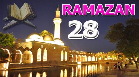 Ramazan sayfası, Kur'anı Kerim Cüz 28