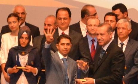 Birecik İlçe Başkan Yardımcısı Demir, Ankara'ya Rabia ile damgasını vurdu