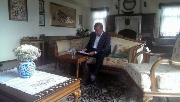 Erdoğan mitinge böyle hazırlanıyor