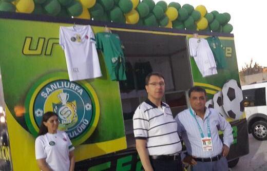 11 Nisan stadına Şanlıurfaspor store açıldı