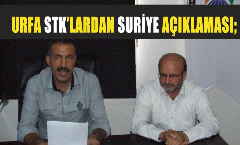 Şanlıurfa STK'lardan Suriye müdahalesi açıklaması