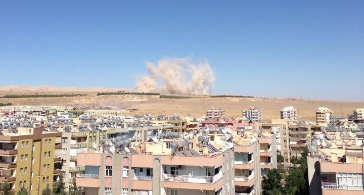 Urfa'da heyecanlandıran patlama