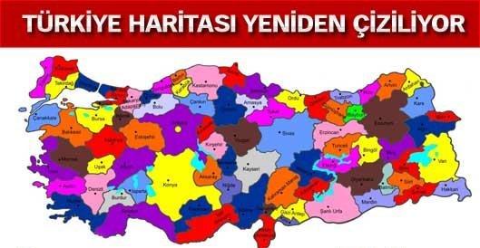 Türkiye haritası yeniden çiziliyor, il sınırları değişiyor!