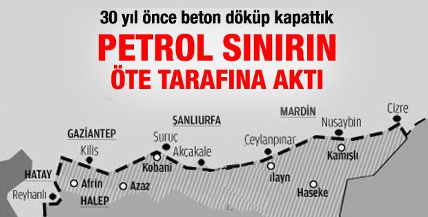 Biz petrol kuyularına beton döktük, petrol Suriye'ye aktı