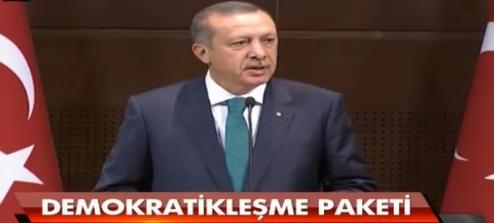 Erdoğan, Demokratikleşme paketini açıkladı