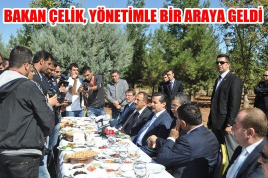 Bakan Çelik, Urfaspor yönetimi ve gazetecilerle buluştu