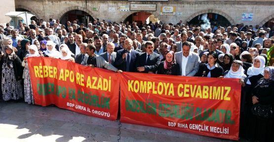 Urfa'da Öcalan'ın özgürlüğü için yürüdüler