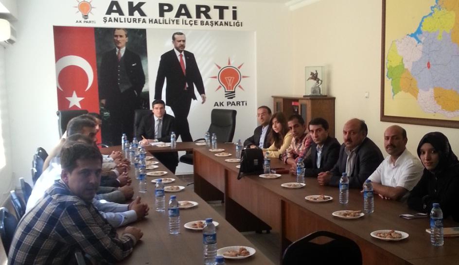 AK Parti Haliliye İlçe Yürütme Kurulu açıklandı