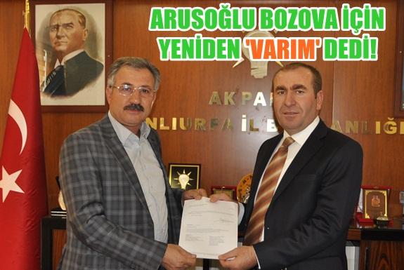 Hasan Arusoğlu yeniden Bozova Belediye Başkan aday adayı VİDEO
