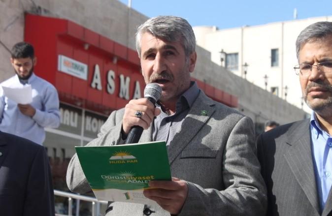 Urfa Hür Dava Partisinden protesto
