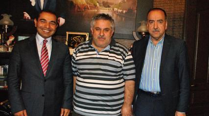 Zahit'ten Gazeteci Güler ve Atilla'ya ziyaret