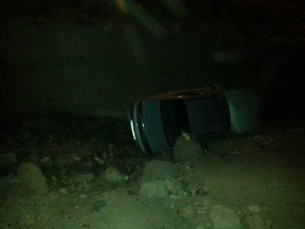 Akabe'de Araç Şarampole uçtu: 5 yaralı