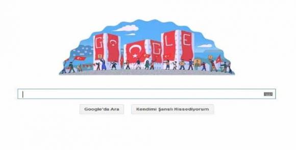 Google'den Cumhuriyet Bayramı Jesti