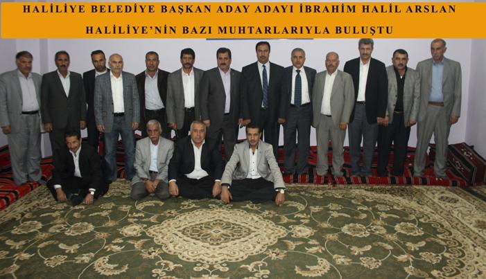 Belediye başkan adayı Arslan, Haliliye'nin Muhtarlarıyla Buluştu