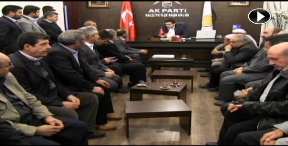 Muhacirler, Ak Parti Haliliye İlçe Başkanlığını ziyaret etti VİDEO