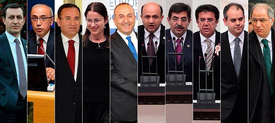 Başbakan Erdoğan yeni kabineyi açıkladı, İşte yeni bakanlar