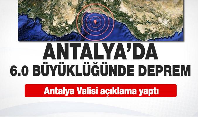 Antalya'da deprem meydana geldi