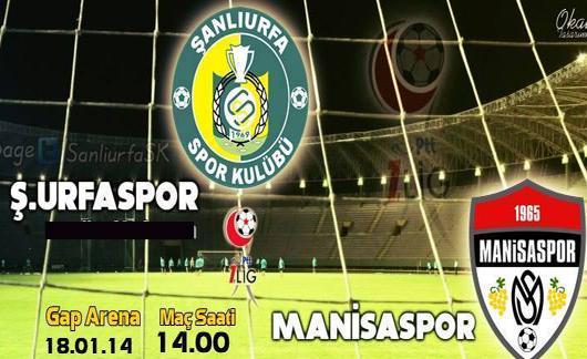 Şanlıurfaspor Manisaspor maçı TRT 1 'de
