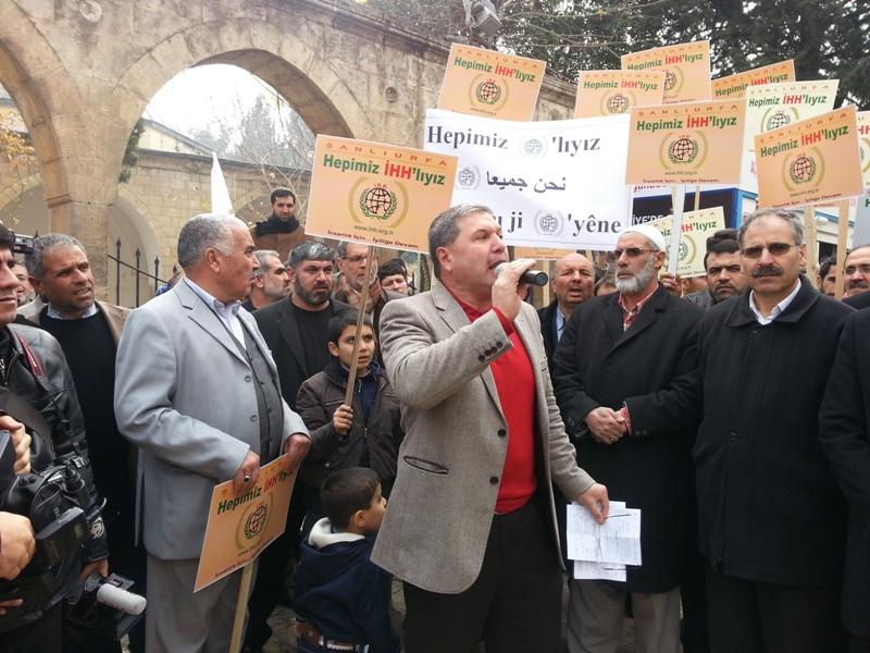 Urfa'dan İHH'ya destek mitingi