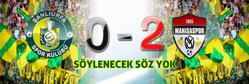 Şanlıurfaspor GAP Arena'da Kayıp: 0-2