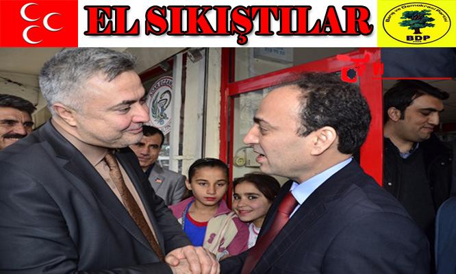 BDP ve MHP Urfa'da el sıkıştı VİDEO