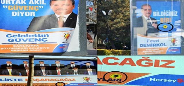 Şanlıurfa'da bilboardlara tahammülsüzlük VİDEO
