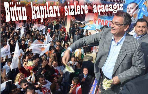 Güvenç Halfeti'de binlerce kişiye hitap etti VİDEO