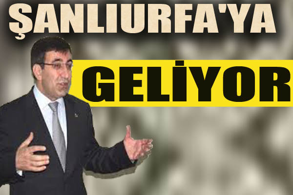 Bakanı Cevdet Yılmaz Şanlıurfa'ya Geliyor