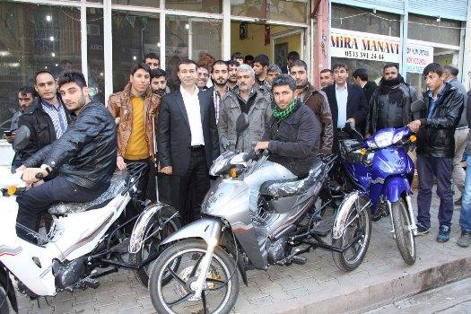 Siverek'te engellilere motosiklet verildi
