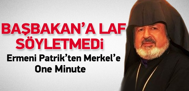 Patrik Vekili'nden Merkel'e one minute