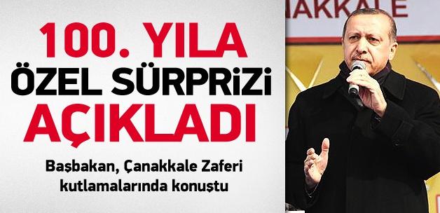 Başbakan Erdoğan'dan 100. yıla özel kutlama