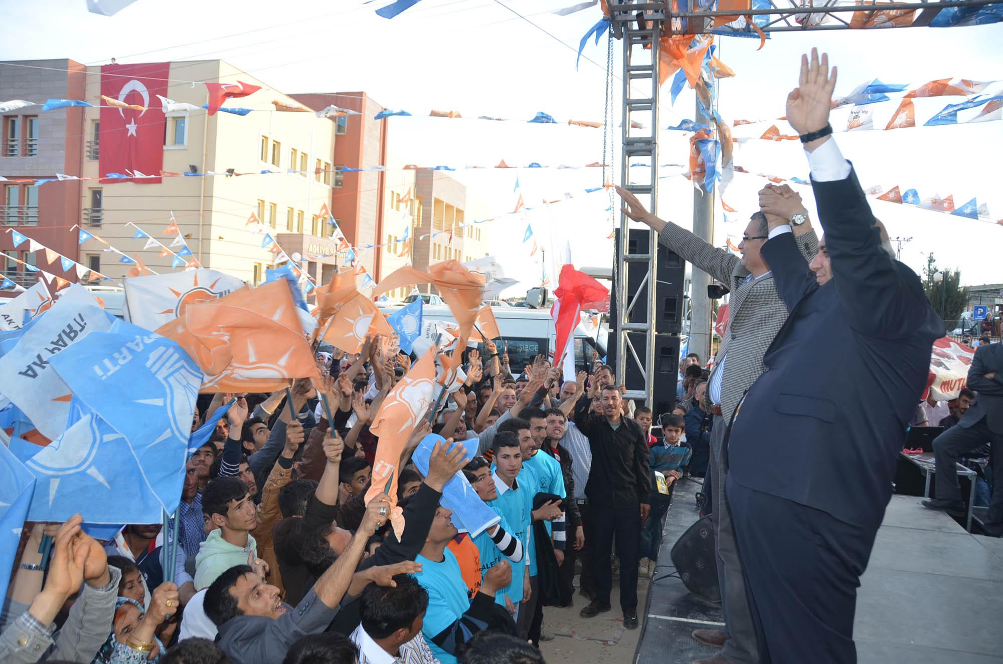 AK Parti Halfeti'de miting düzenledi-VİDEO
