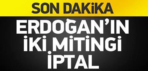 AK Parti'nin mitingleri Erdoğan'sız yapılacak