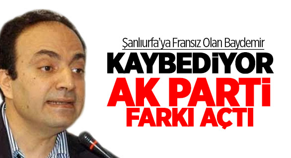 Şanlıurfa'da AK Parti BDP'ye fark attı