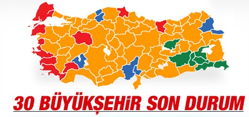 2014 yerel seçimleri büyükşehir sonuçları