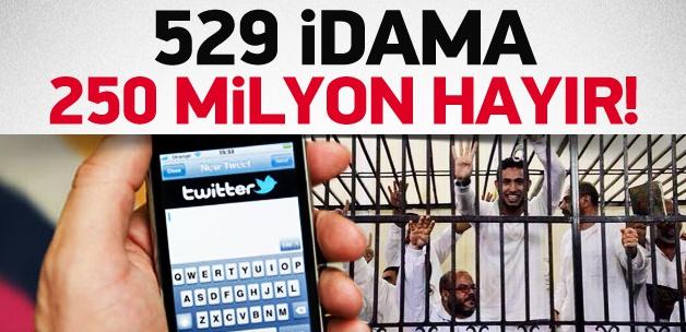 İdamlara karşı Tweet rekoru kırıldı