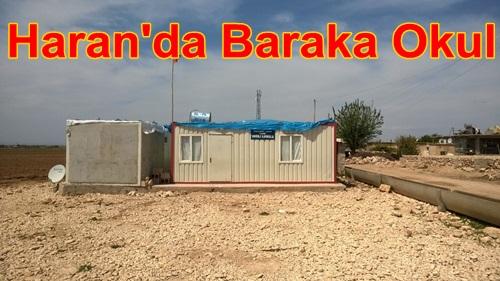 Harran'da Barakadan Okul