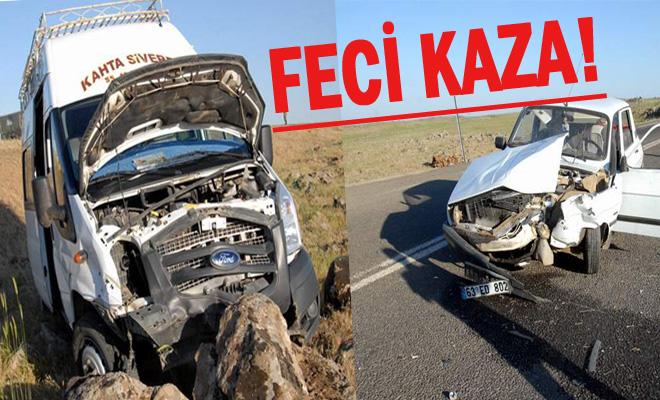 Yolcu minibüsü ile otomobil çarpıştı: 6 yaralı