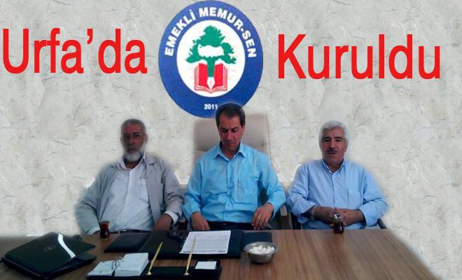 Urfa'da Emekli Memur-Sen Kuruldu