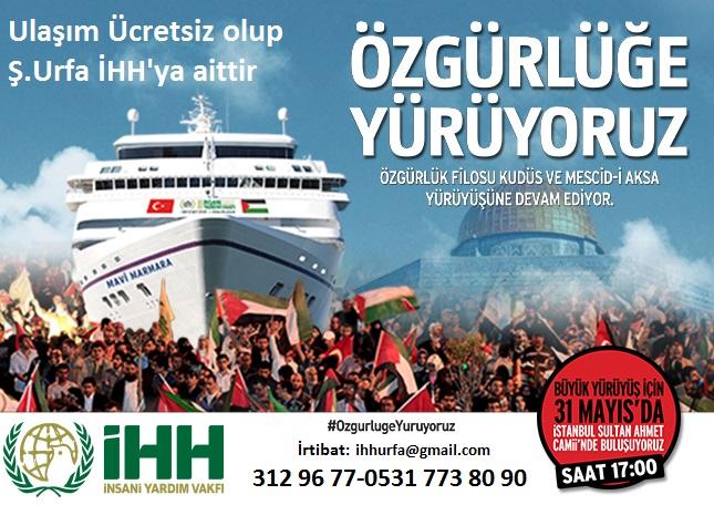 IHH Mavi Marmara İçin Urfa'dan Araç Kaldıracak