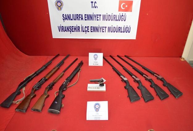 Viranşehir'de çok sayıda suç aleti ele geçirildi
