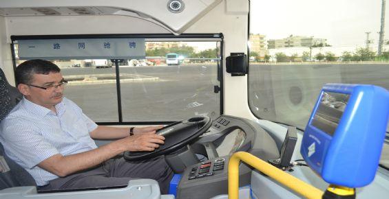 Başkan Güvenç, Elektrikli Otobüsün Test Sürüşünü Gerçekleştirdi
